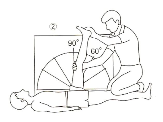 ハムストリングスの柔軟性テスト