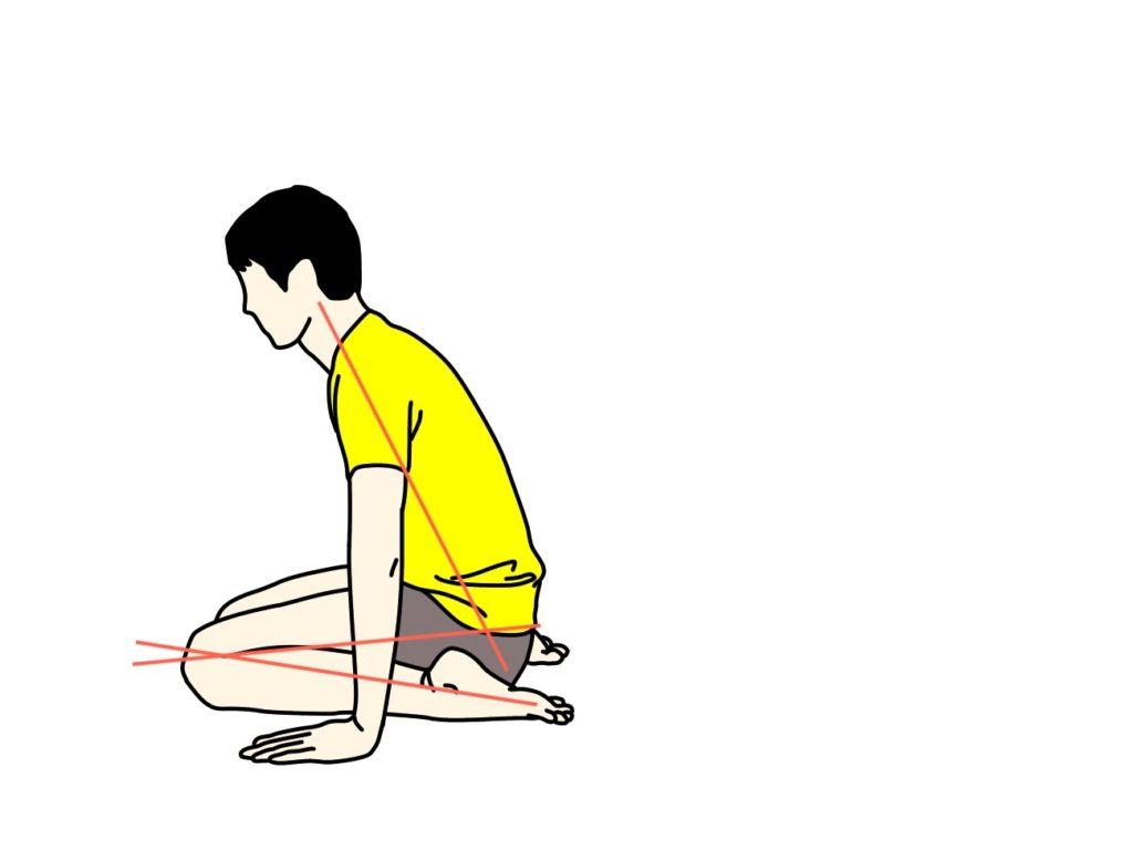 左右のもも前の筋肉(大腿四頭筋)を一緒にストレッチする方法