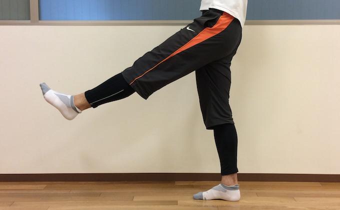 股関節を曲げる動作 (股関節の屈曲)