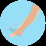 足首を伸ばす動作(足関節の底屈)