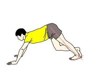 ふくらはぎ(下腿三頭筋)のストレッチの方法