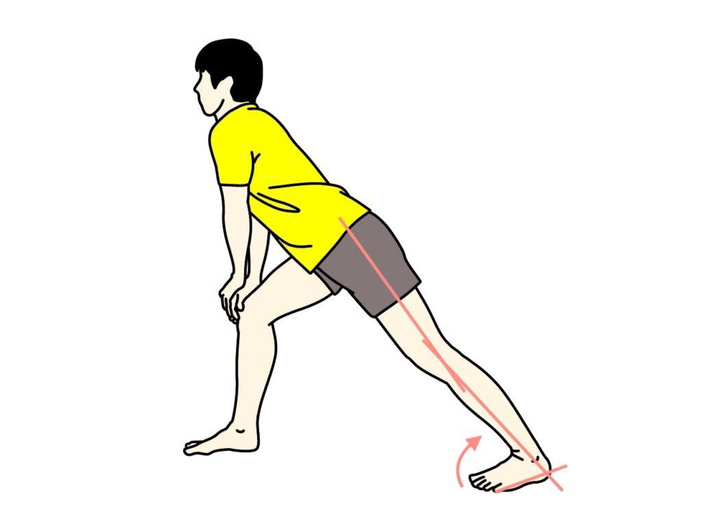 アキレス腱〜ふくらはぎ(下腿三頭筋)のストレッチ