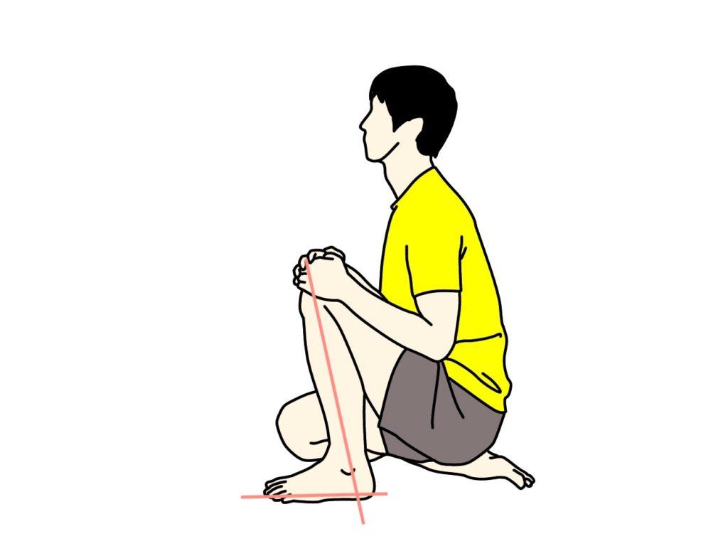 ヒラメ筋のストレッチ