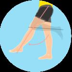 膝を伸ばす動作(膝関節の伸展)