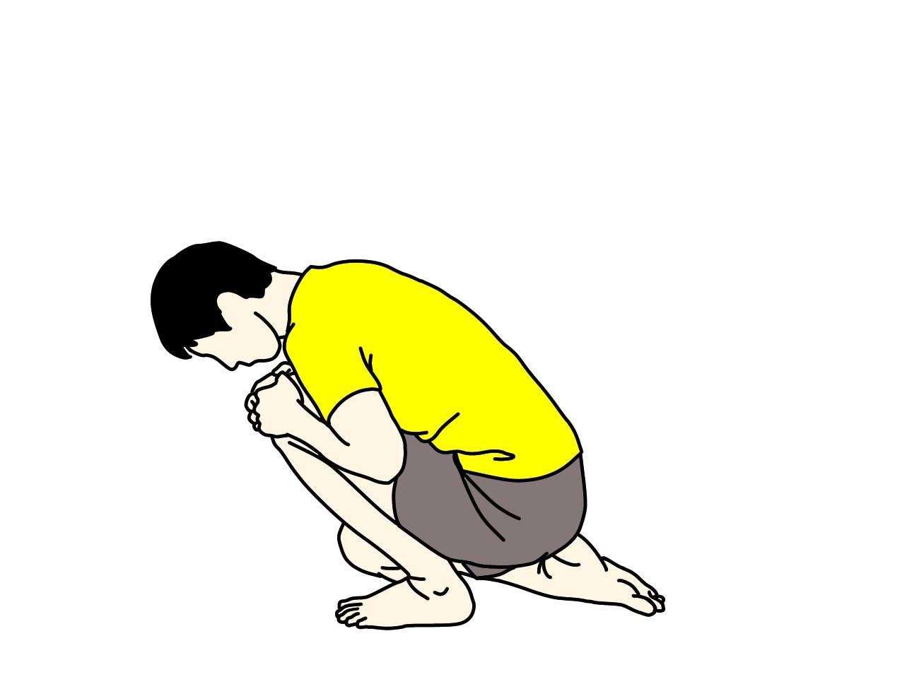 ふくらはぎ(ヒラメ筋)のストレッチの方法