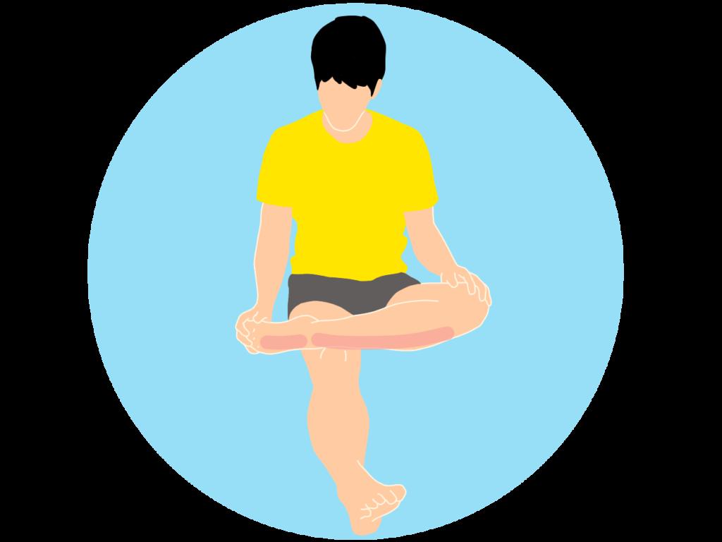 足の甲〜スネの筋肉(前脛骨筋)のストレッチ