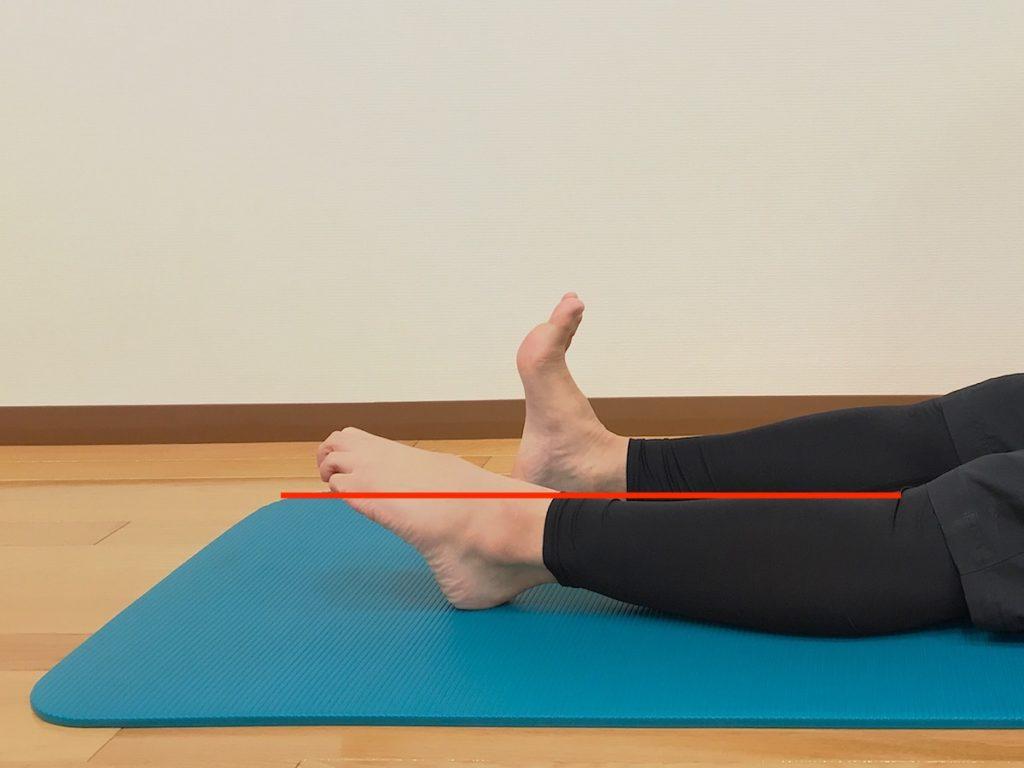 足首を伸ばす動作が硬い場合