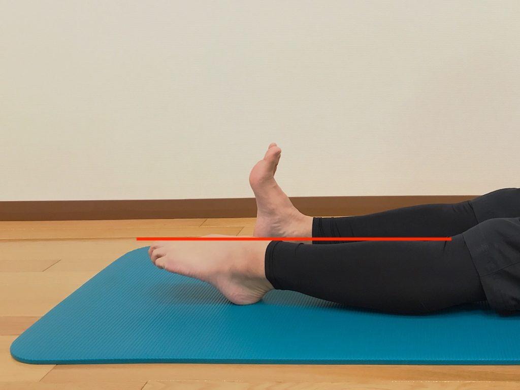 足首を伸ばす動作が柔らかい場合