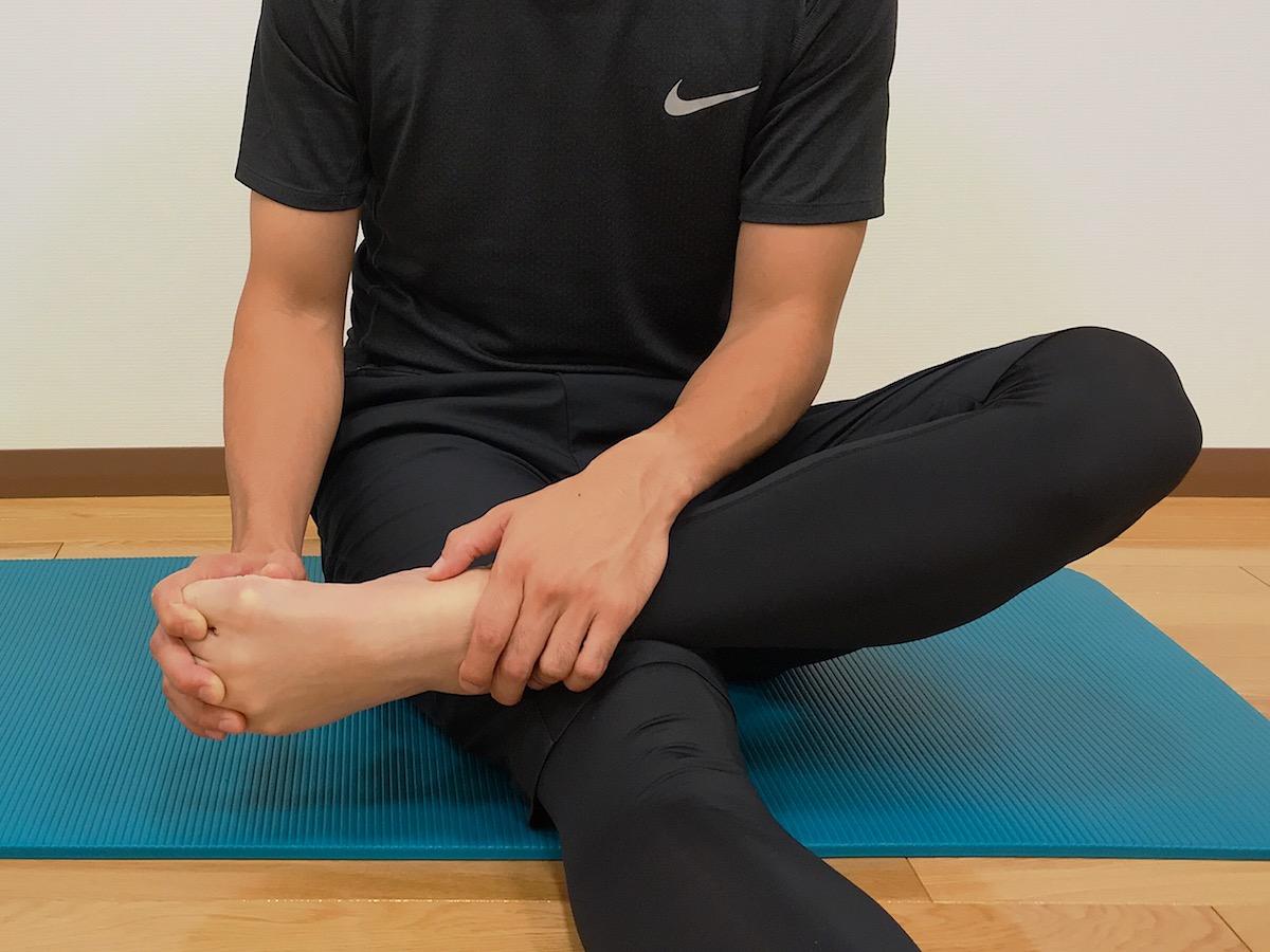 足の甲出しのためのストレッチ