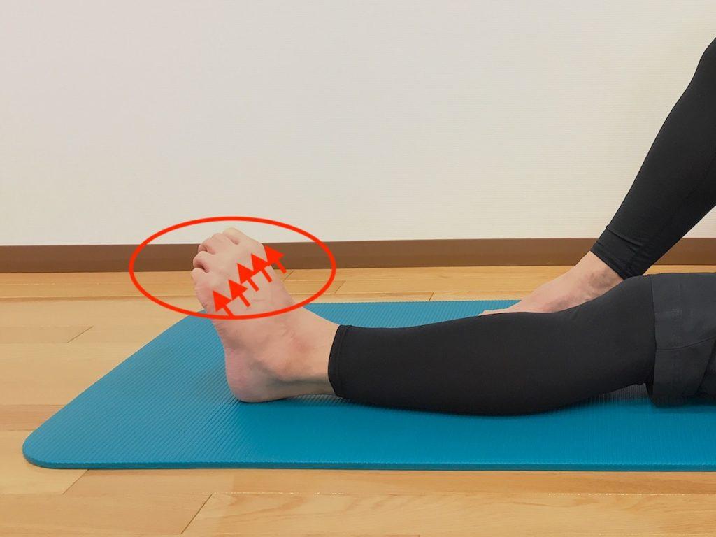 足の指を握る動作が柔らかい場合