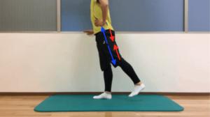 股関節の伸展動作の際の筋収縮