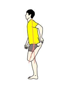 もも前(大腿四頭筋)がうまくストレッチできない例