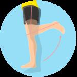 膝を曲げる動作(膝関節の屈曲)
