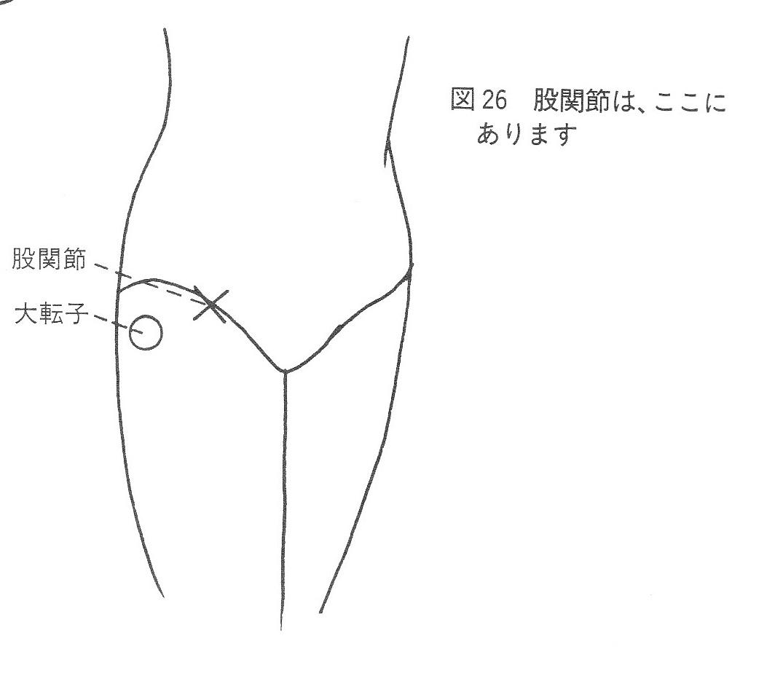 股関節と大転子の位置