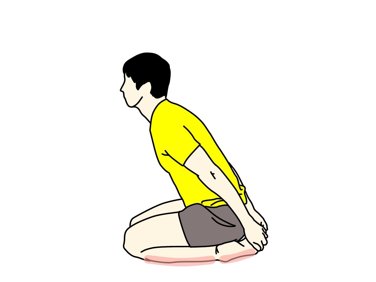 スネ(前脛骨筋)のストレッチで伸びる場所