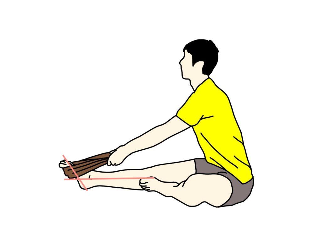 タオルを使ったふくらはぎ(下腿三頭筋)のストレッチの方法