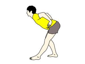 立った姿勢で行うもも裏の筋肉(ハムストリングス)のストレッチの方法