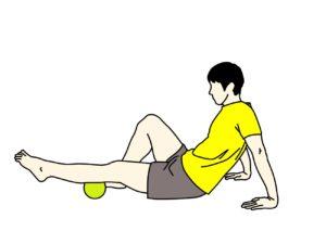 マッサージボールの使い方【ふくらはぎ(下腿三頭筋)】