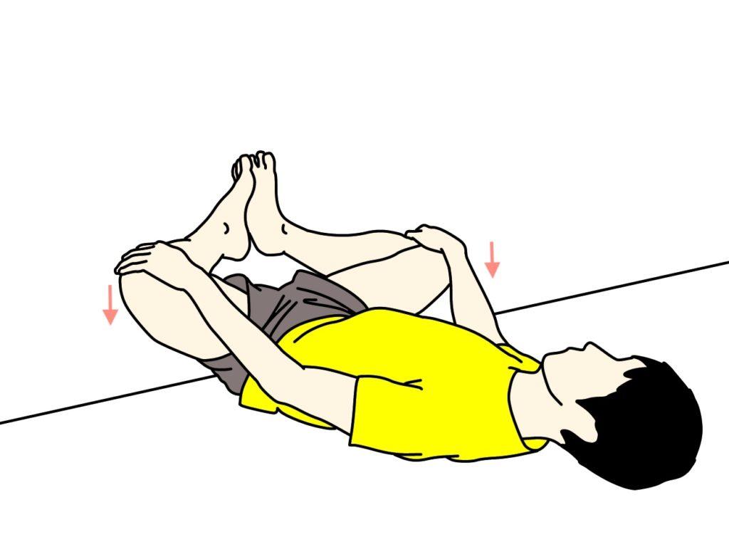 壁を使って行う内もも(内転筋)のストレッチの方法