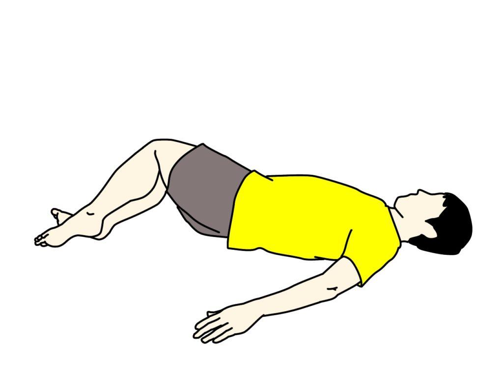 お尻(大殿筋)〜腰(脊柱起立筋)のストレッチの方法