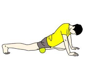 マッサージボールでもも前(大腿四頭筋)をほぐす方法
