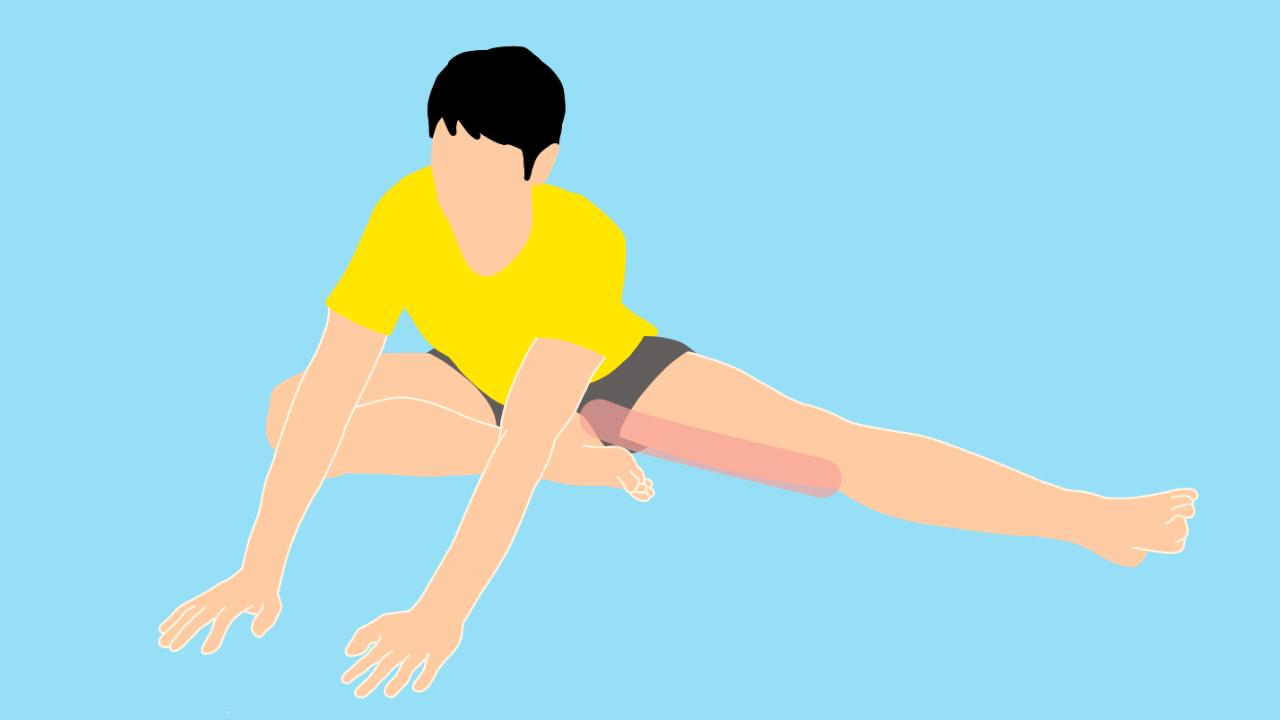 床に座って行う内もも(内転筋群)のストレッチ