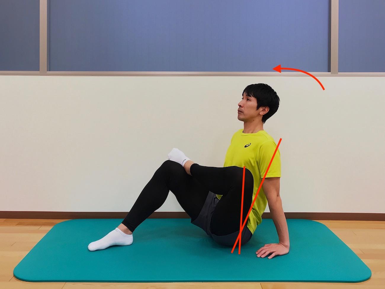 お尻(大殿筋)の筋肉のストレッチの方法