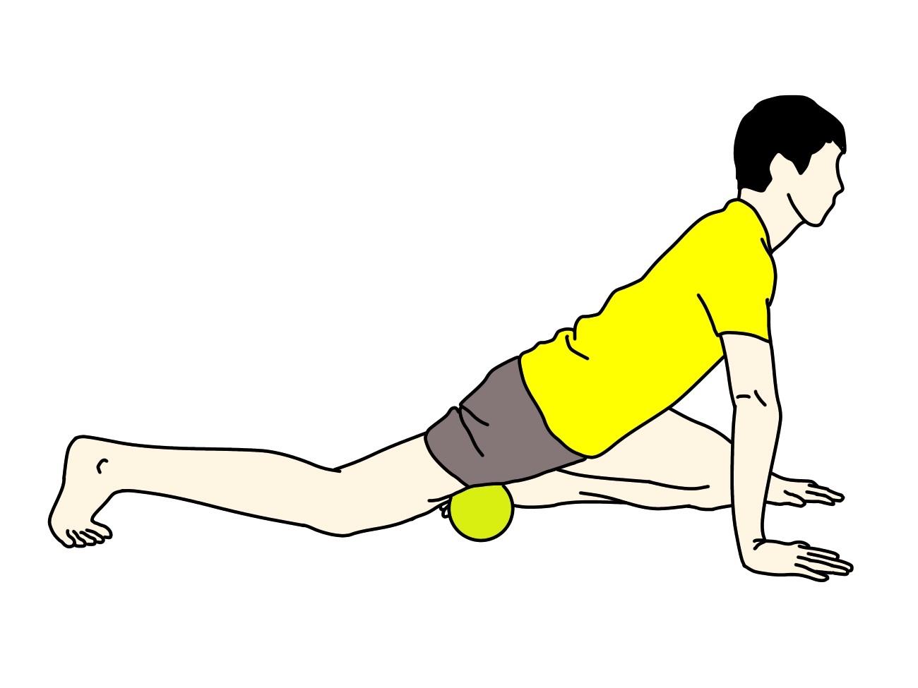 マッサージボールの使い方【もも前の筋肉(大腿四頭筋)】