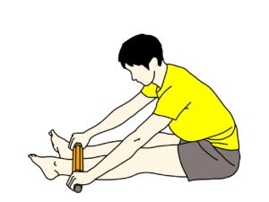 フォームローラー(マッサージローラー)でスネ(前脛骨筋)をほぐす方法
