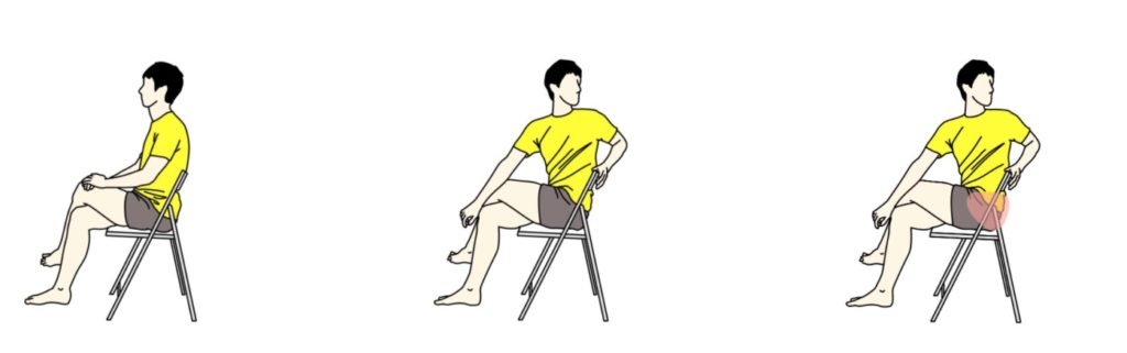 椅子に座って行う腰・お尻のストレッチ