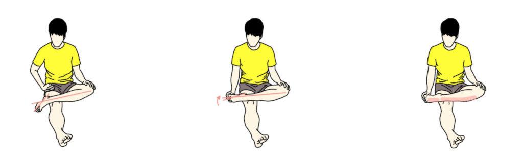 足首を伸ばす・回すストレッチ
