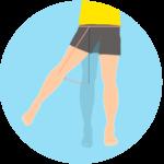 股関節を外に開く動作(股関節の外転)