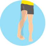 股関節を内に捻る動作(股関節の内旋)