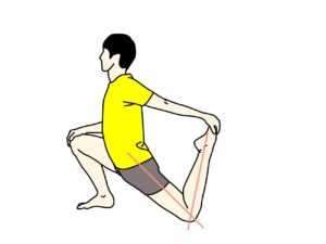 骨盤前〜もも前(腸腰筋・大腿四頭筋)のストレッチ
