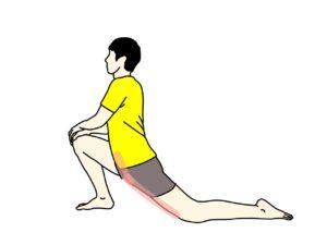 骨盤前〜もも前(腸腰筋・大腿直筋)のストレッチ