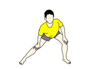 内転筋のストレッチ