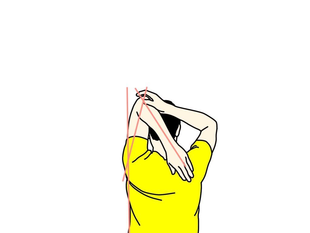 二の腕の筋肉(上腕三頭筋)のストレッチ