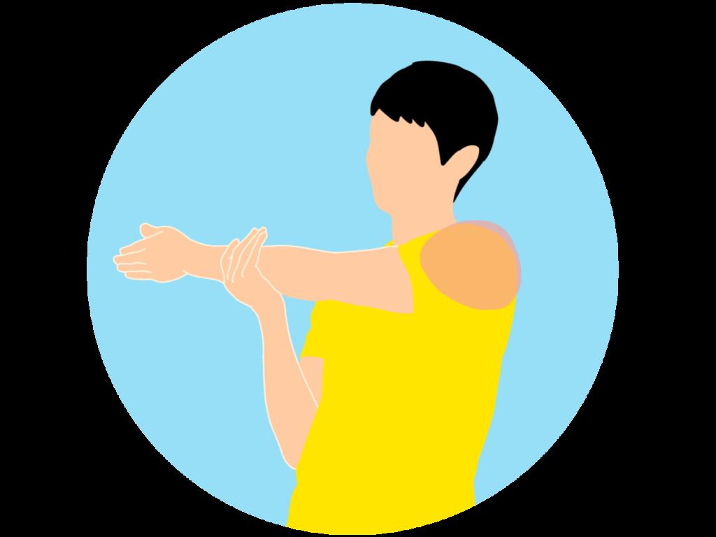 肩(三角筋)のストレッチ