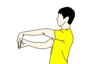 手の平〜腕の筋肉(前腕屈筋群)のストレッチ