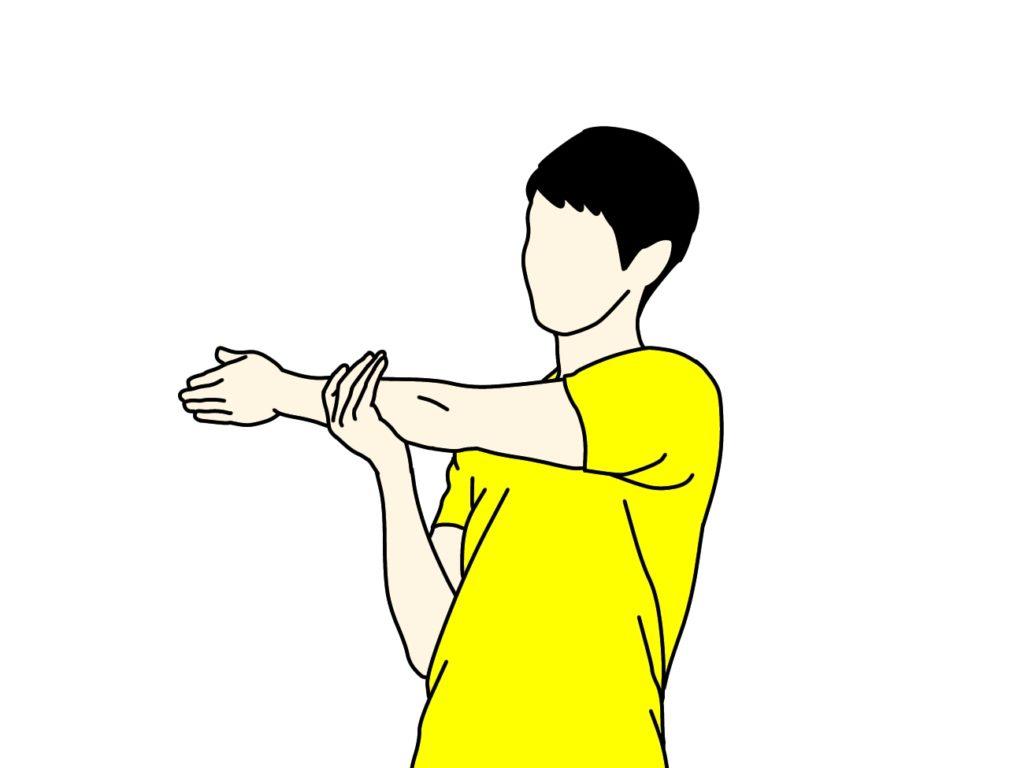 肩の筋肉(三角筋)のストレッチの方法