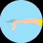 手首を伸ばす動作(手首の伸展)