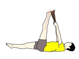 タオルを使ったふくらはぎ(下腿三頭筋)〜もも裏(ハムストリングス)のストレッチの方法