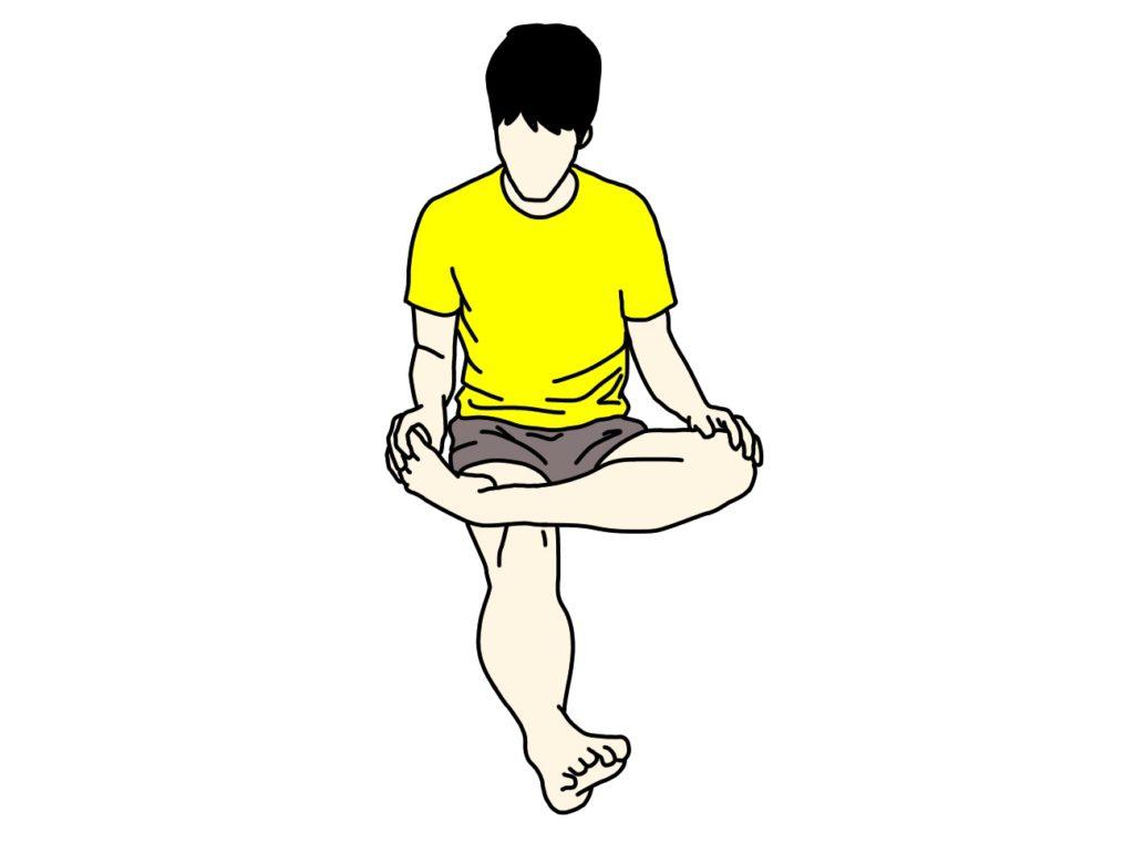 足の甲〜スネのストレッチの方法