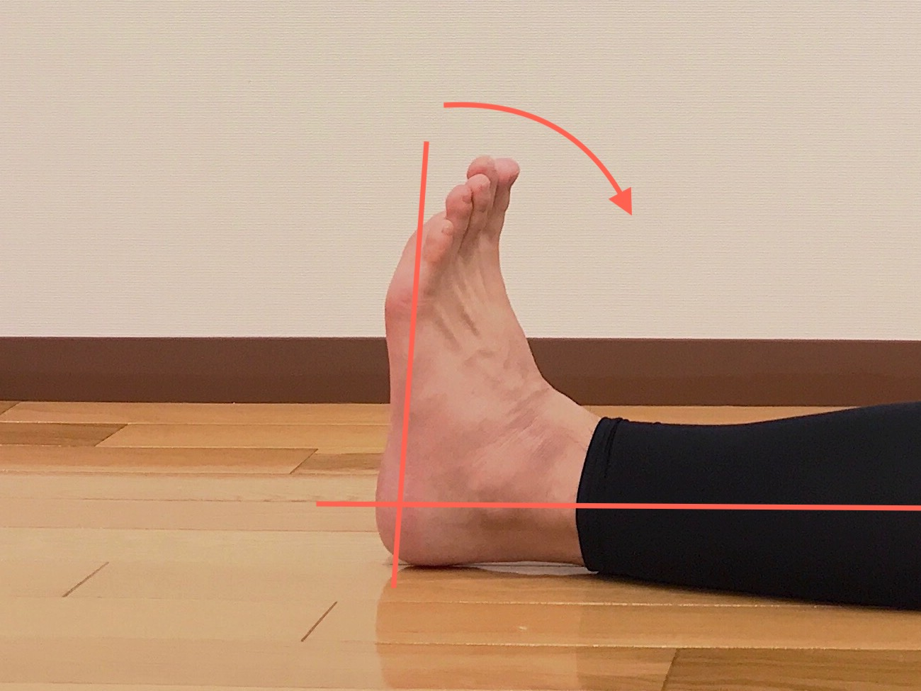 足関節を曲げる動作(背屈)が硬い場合