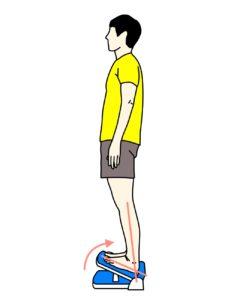 トレッチボードを使ったふくらはぎ(下腿三頭筋)のストレッチの方法