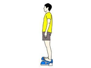 ストレッチボードを使ったのふくらはぎの筋肉(下腿三頭筋)のストレッチの方法