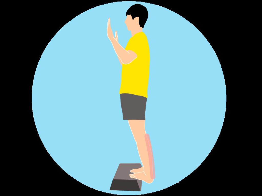 階段などの段差を使ったのふくらはぎ(下腿三頭筋)のストレッチ