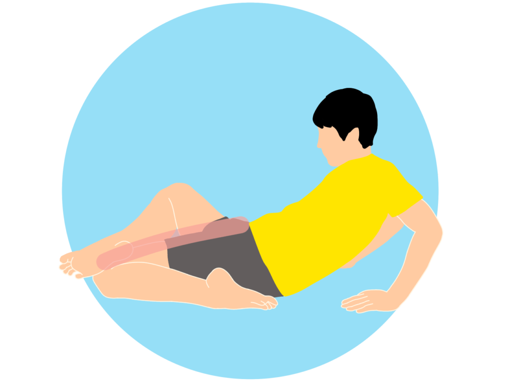 もも前(大腿四頭筋)のストレッチで膝を浮かさずに行う方法