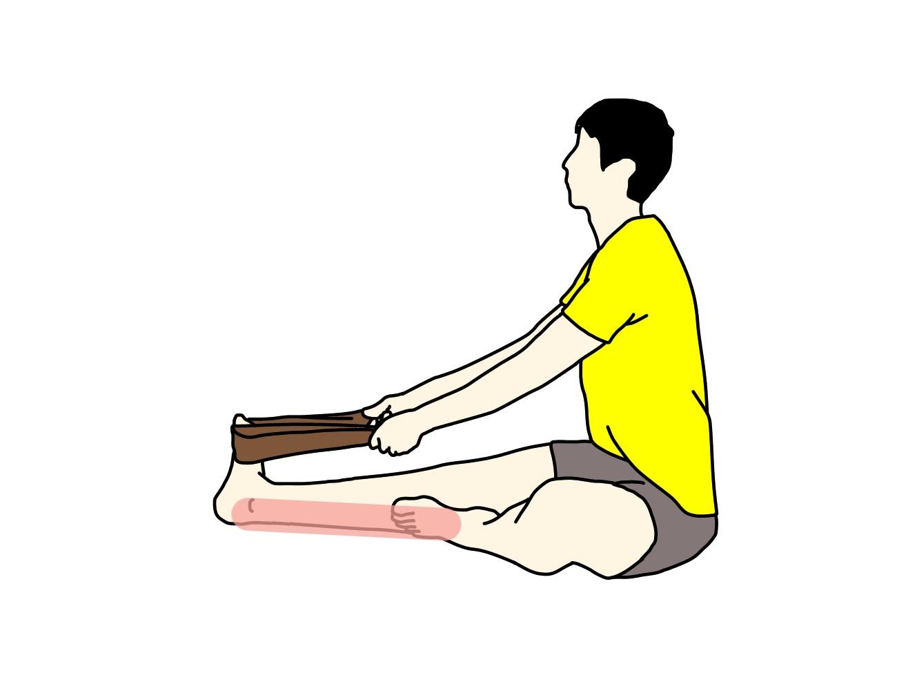 ふくらはぎ(下腿三頭筋)の筋肉の伸ばし方