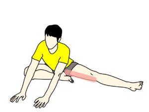 内ももの筋肉の伸ばし方